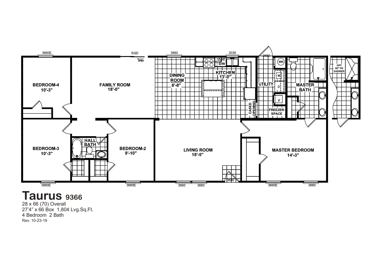 Taurus 9366 Floorplan